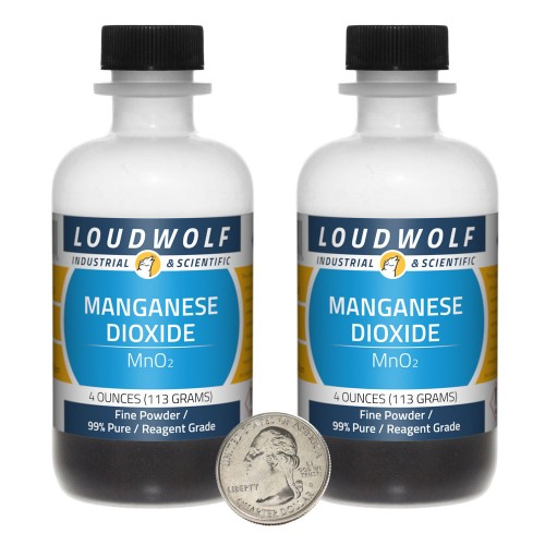 Manganese Dioxide - 8 Ounces in 2 Bottles
