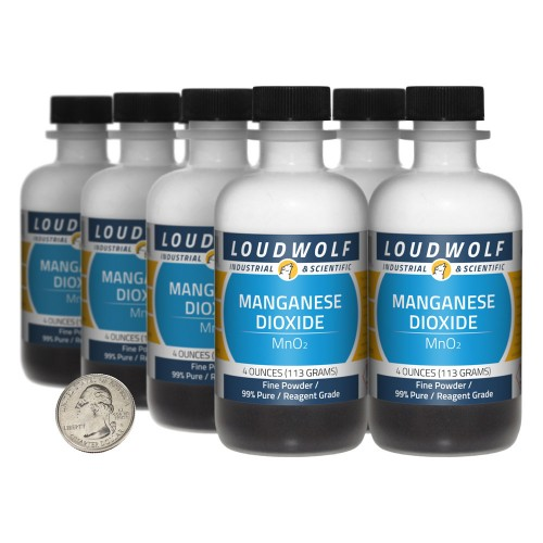 Manganese Dioxide - 2 Pounds in 8 Bottles
