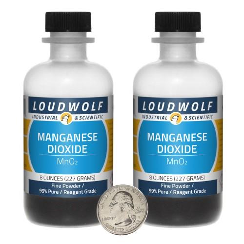 Manganese Dioxide - 1 Pound in 2 Bottles