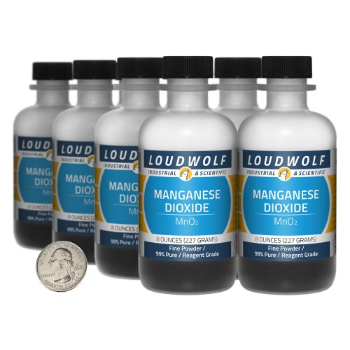 Manganese Dioxide - 4 Pounds in 8 Bottles