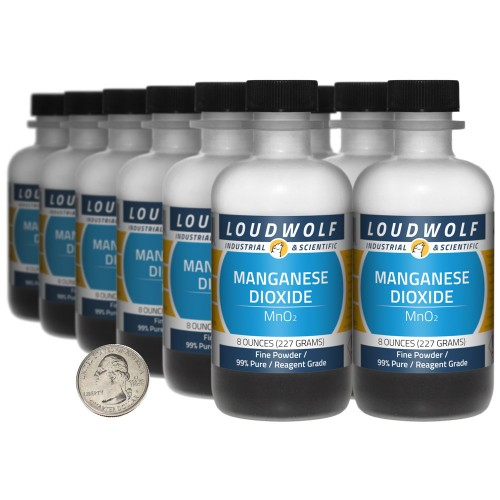 Manganese Dioxide - 6 Pounds in 12 Bottles