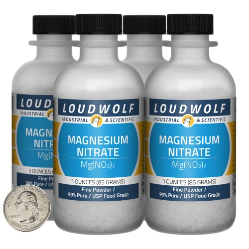 Magnesium Nitrate - 12 Ounces in 4 Bottles