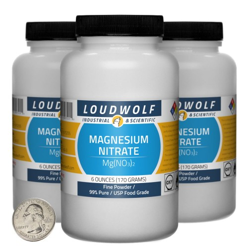 Magnesium Nitrate - 1.1 Pounds in 3 Bottles