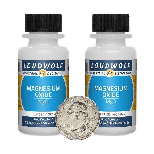 Magnesium Oxide - 1 Ounce in 2 Bottles