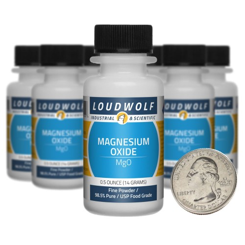 Magnesium Oxide - 5 Ounces in 10 Bottles