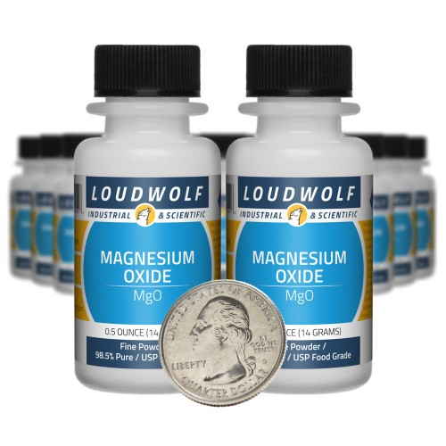 Magnesium Oxide - 10 Ounces in 20 Bottles