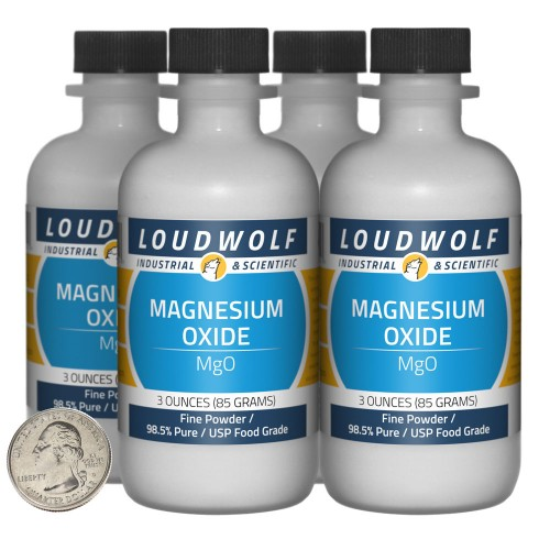 Magnesium Oxide - 12 Ounces in 4 Bottles