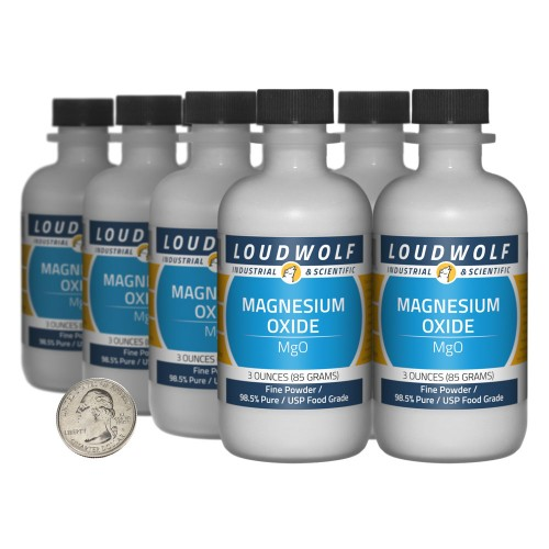 Magnesium Oxide - 1.5 Pounds in 8 Bottles
