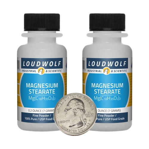 Magnesium Stearate - 0.5 Ounces in 2 Bottles