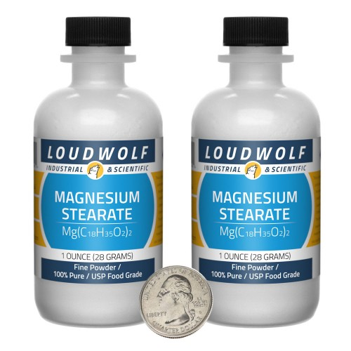 Magnesium Stearate - 2 Ounces in 2 Bottles