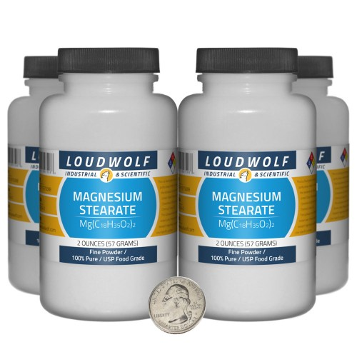 Magnesium Stearate - 8 Ounces in 4 Bottles