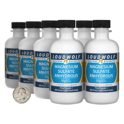 Magnesium Sulfate Anhydrous - 2 Pounds in 8 Bottles
