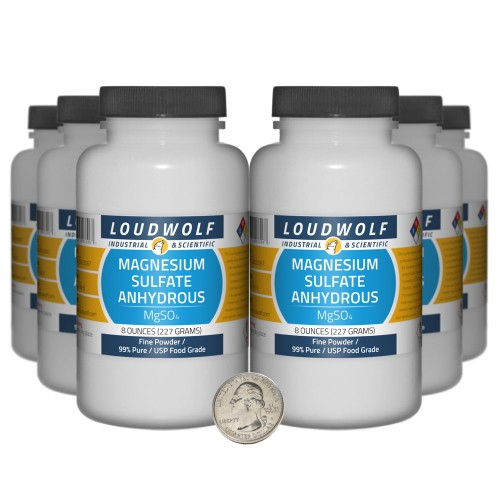 Magnesium Sulfate Anhydrous - 3 Pounds in 6 Bottles