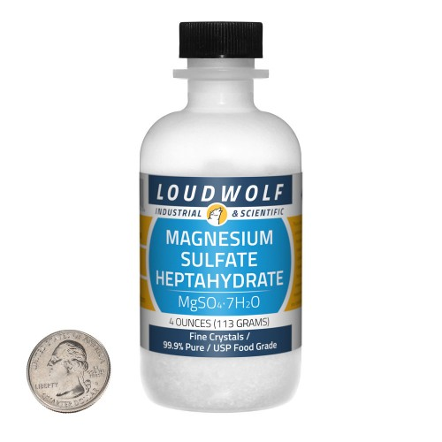 Magnesium Sulfate Heptahydrate - 4 Ounces in 1 Bottle