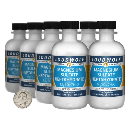 Magnesium Sulfate Heptahydrate - 2 Pounds in 8 Bottles