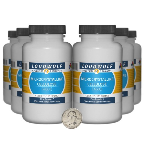 Microcrystalline Cellulose - 1.5 Pounds in 6 Bottles