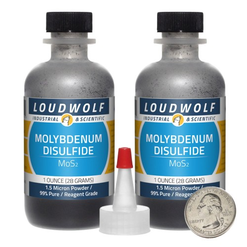 Molybdenum Disulfide - 2 Ounces in 2 Bottles