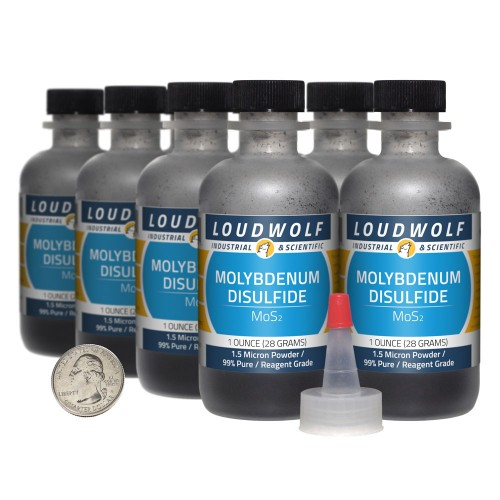 Molybdenum Disulfide - 8 Ounces in 8 Bottles