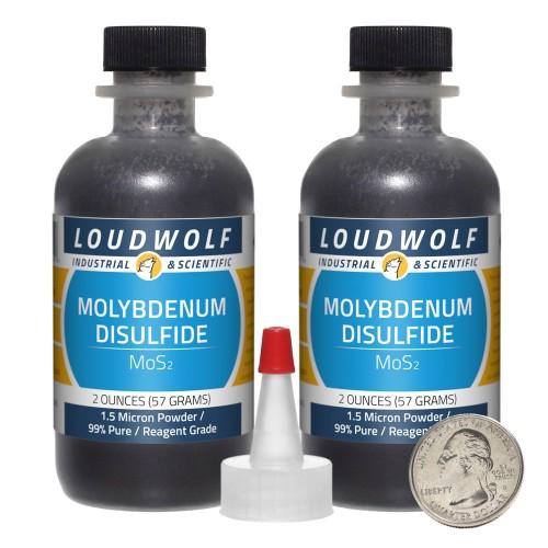 Molybdenum Disulfide - 4 Ounces in 2 Bottles