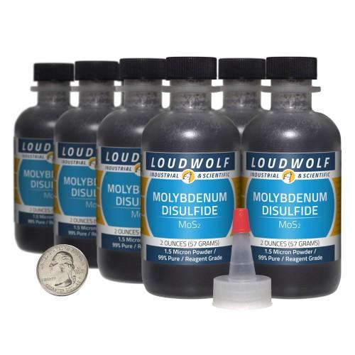 Molybdenum Disulfide - 1 Pound in 8 Bottles