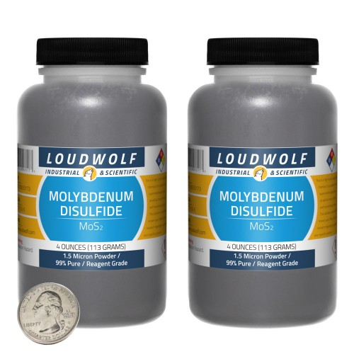 Molybdenum Disulfide - 8 Ounces in 2 Bottles