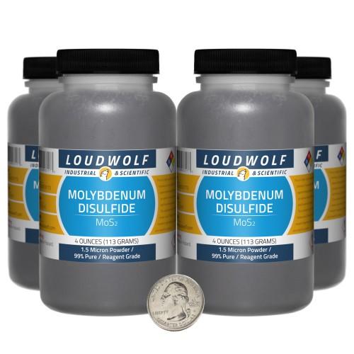 Molybdenum Disulfide - 1 Pound in 4 Bottles