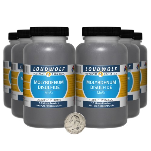 Molybdenum Disulfide - 1.5 Pounds in 6 Bottles