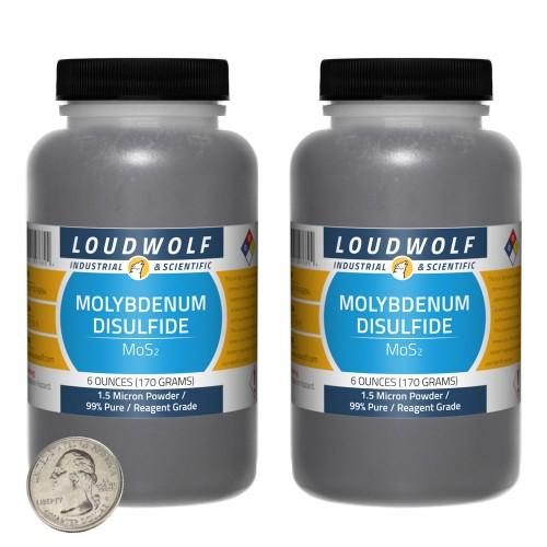 Molybdenum Disulfide - 12 Ounces in 2 Bottles