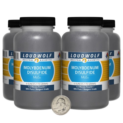 Molybdenum Disulfide - 1.5 Pounds in 4 Bottles