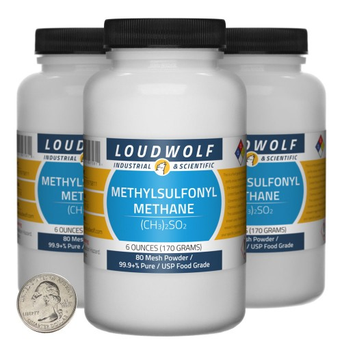Methylsulfonyl Methane - 1.1 Pounds in 3 Bottles