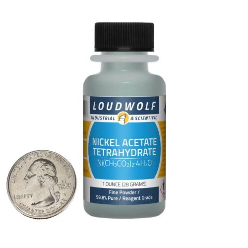 Nickel Acetate Tetrahydrate - 1 Ounce in 1 Bottle