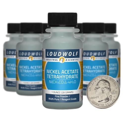 Nickel Acetate Tetrahydrate - 10 Ounces in 10 Bottles