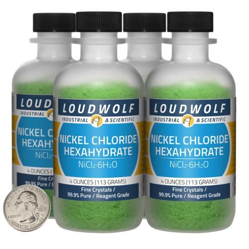 Nickel Chloride Hexahydrate - 1 Pound in 4 Bottles