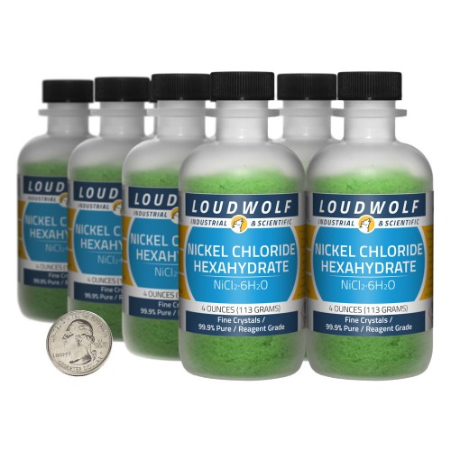 Nickel Chloride Hexahydrate - 2 Pounds in 8 Bottles