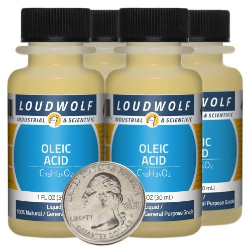 Oleic Acid - 4 Fluid Ounces in 4 Bottles