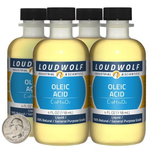 Oleic Acid - 16 Fluid Ounces in 4 Bottles