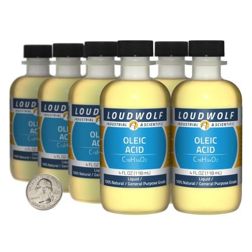 Oleic Acid - 32 Fluid Ounces in 8 Bottles