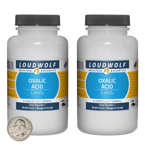 Oxalic Acid  - 1 Pound in 2 Bottles