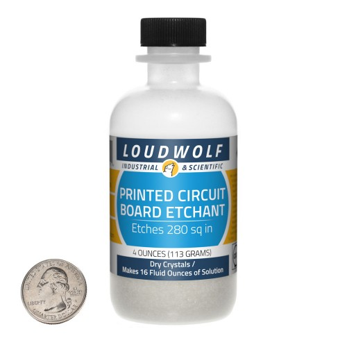 Printed Circuit Board Etchant - 4 Ounces in 1 Bottle