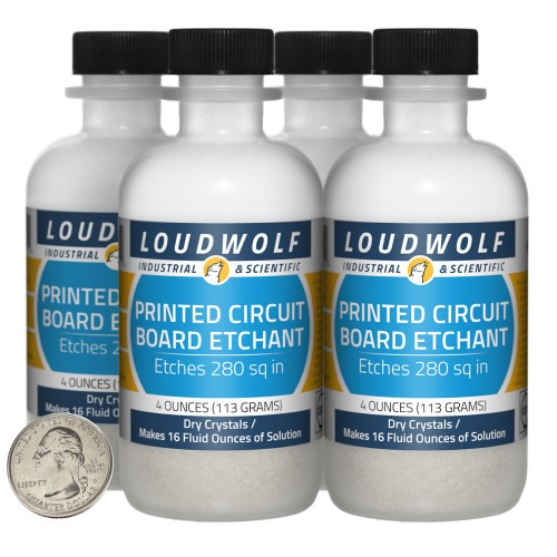 Printed Circuit Board Etchant - 1 Pound in 4 Bottles