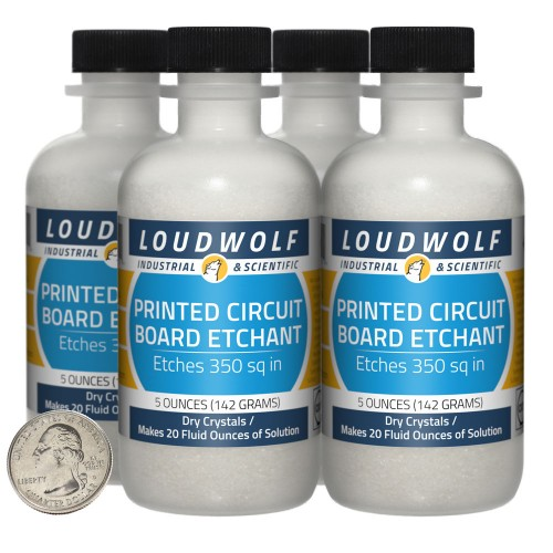 Printed Circuit Board Etchant - 1.3 Pounds in 4 Bottles