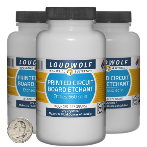 Printed Circuit Board Etchant - 1.5 Pounds in 3 Bottles