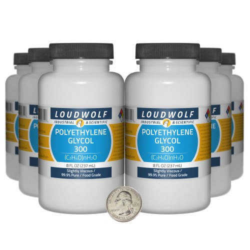 Polyethylene Glycol  300 - 48 Fluid Ounces in 6 Bottles