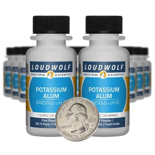 Potassium Alum - 1.3 Pounds in 20 Bottles