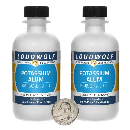 Potassium Alum - 8 Ounces in 2 Bottles