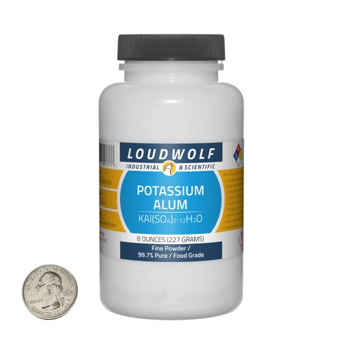 Potassium Alum - 8 Ounces in 1 Bottle