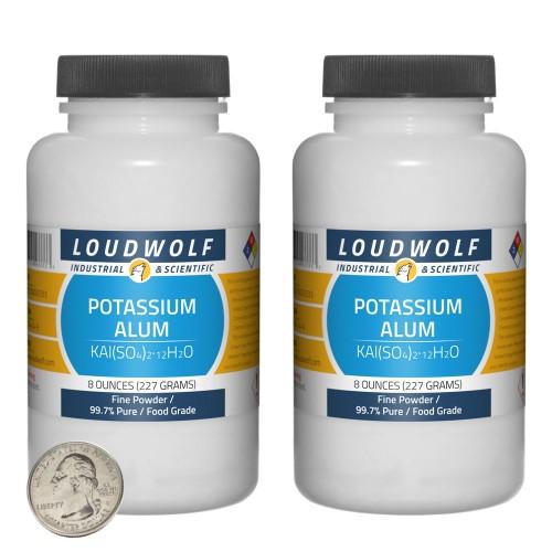 Potassium Alum - 1 Pound in 2 Bottles