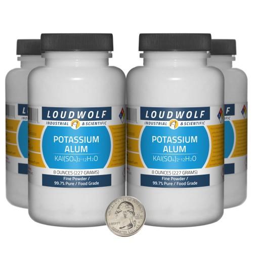 Potassium Alum - 2 Pounds in 4 Bottles