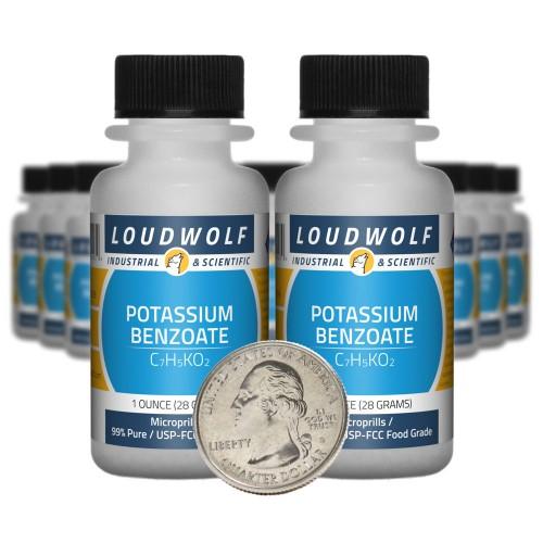 Potassium Benzoate - 1.3 Pounds in 20 Bottles