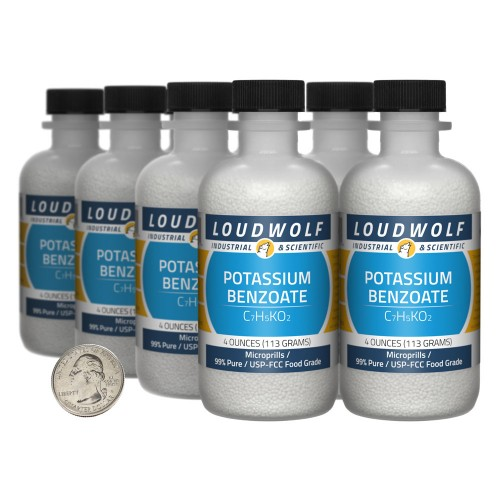 Potassium Benzoate - 2 Pounds in 8 Bottles